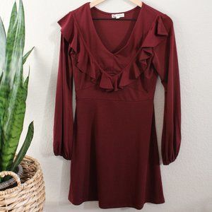 About a Girl Burgundy A-Line